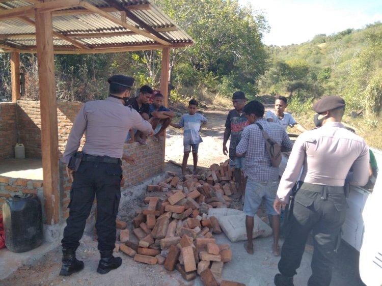 Cegah Covid 19, Patroli Sat Sabhara Himbau Warga Patuhi Protocol Kesehatan.