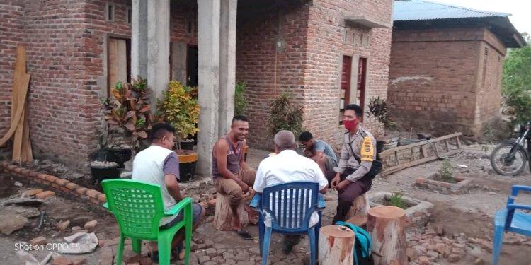 Bripka Muhammad Yusuf Sambang Kamtibmas, Sosialisasi Ke Warga Desa Binaannya.