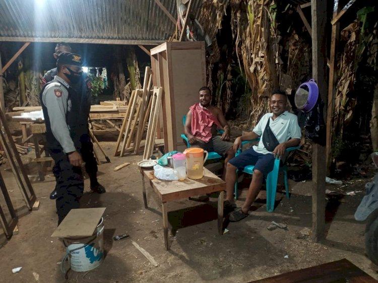 Antisipasi Tindak Kejahatan, Sat Sabhara Polres Lembata Laksanakan Patroli Dialogis