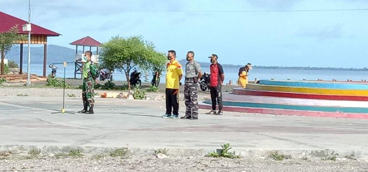 Tingkatkan Sinegritas TNI-POLRI Lakukan Olahraga Bersama dan Bersih Lingkungan