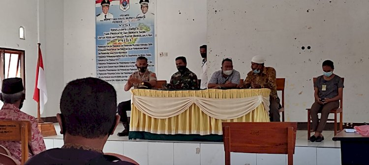 Menjelang Hari Raya Idul Fitri,Kapolsek Omesuri hadiri rapat koordinasi