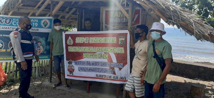 Bhabinkamtibmas Gencar Sosialisasikan Karhutla