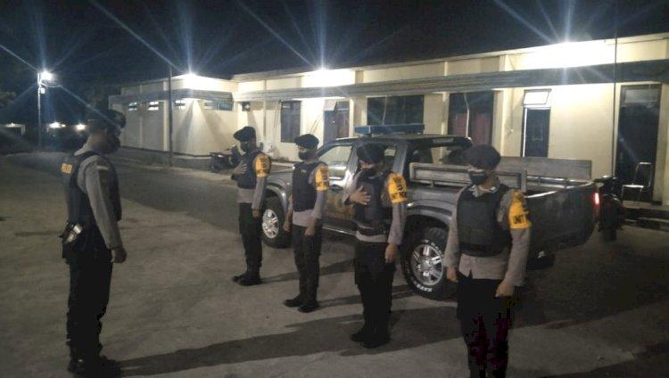 Tingkatkan Keamanan dalam Kota, Sat Sabhara Polres Lembata Gencar Laksanakan Paroli Malam.