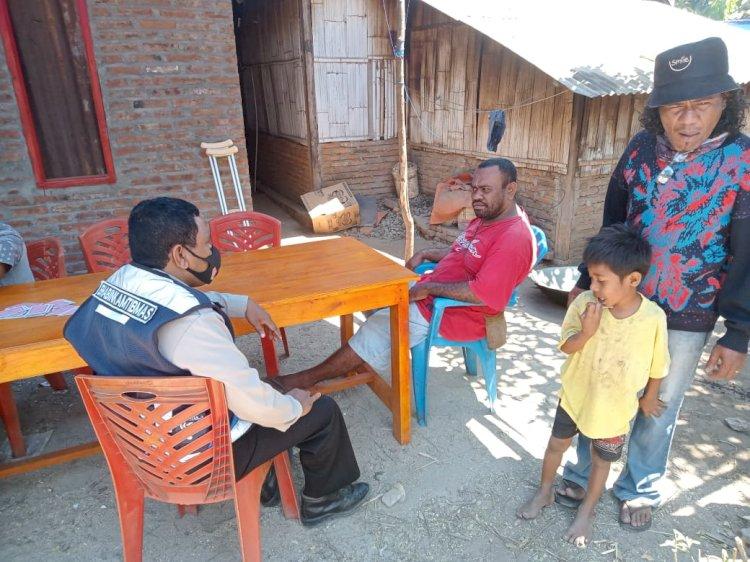 Bhabinkamtibmas Desa Bungamuda Ajak Warga Jaga Kamtibmas.