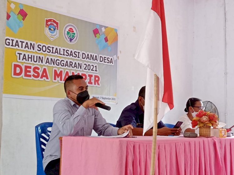 Unit Tipidkor Polres Lembata Dan Instansi Terkait Sosialisasikan Penggunaan Dana Desa.