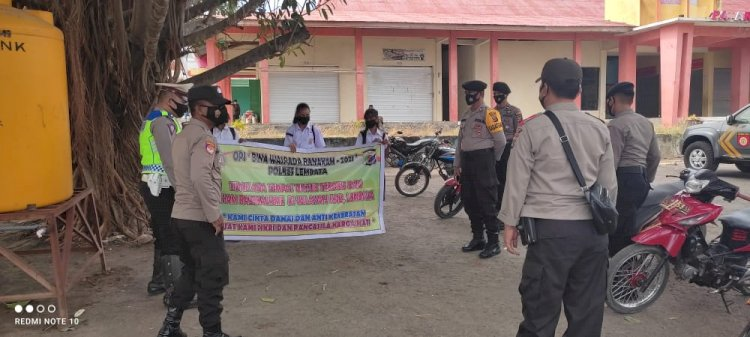 Dalam Rangka Operasi Bina Waspada Kasat Sabhara Selaku Kasatgas Preventif Pimpin Langsung Giat Operasi.